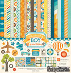Набор бумаги от Echo Park - All About a Boy Collection Kit, 30х30см - ScrapUA.com
