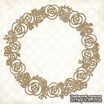 Чипборд Blue Fern Studios - Rose Wreath - ScrapUA.com