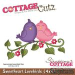 Лезвие CottageCutz - Sweetheart Lovebirds (4x4)