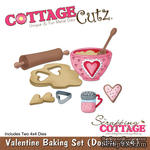 Лезвие CottageCutz Valentine Baking Set, 10х10 см, 2 штуки