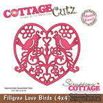 Лезвие CottageCutz - Filigree Love Birds, 10х10 см