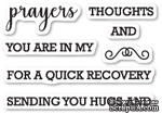 Набор  штампов от Memory Box - Prayers Sentiments clear stamp set - ScrapUA.com