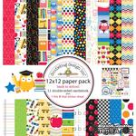 Набор кардстока от Doodlebug Cardstock - back to school, двусторонний, 30,5 x 30,5 см - ScrapUA.com