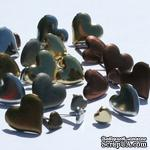 Набор брадсов Eyelet Outlet - Anodized Heart Brads, 30 штук - ScrapUA.com