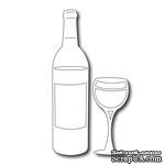 Лезвие Frantic Stamper - Cutting Die - Wine Bottle and Glass Set (2 pieces)