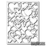 Лезвие Frantic Stamper Precision Die - Open Hearts Card Panel  - ScrapUA.com