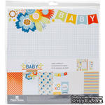 Набор скрапбумаги от Paper House - Paper Crafting Kit - Hello Baby Boy, 30 x 30 см - ScrapUA.com