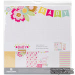 Набор скрапбумаги от Paper House - Paper House Paper Crafting Kit - Hello Baby Girl, 30 x 30 см - ScrapUA.com