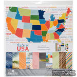 Набор скрапбумаги от Paper House - Paper Crafting Kit - Discover USA, 30 x 30 см - ScrapUA.com