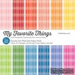 Набор бумаги My Favorite Things - County Fair Plaid Paper Pack, размер 15х15 см, 24 листа. - ScrapUA.com