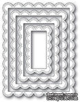 Нож для вырубки от Poppystamps - Double Stitch Scalloped Rectangle Frames craft die   - ScrapUA.com