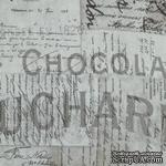 Ткань 100% хлопок - Tim Holtz Eclectic - French-Taupe, 45х55 см - ScrapUA.com