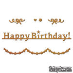 Ножи от Spellbinders – Happy Birthday Garland