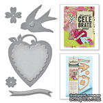 Нож для вырубки от Spellbinders - Swallow And Heart - ScrapUA.com