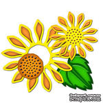Набор лезвий от Spellbinders - Sunflower Set Two, 4 шт. - ScrapUA.com