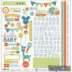 Наклейки от Paper House - Hello Baby Cardstock Stickers - Blue Boy, 30x30 см - ScrapUA.com