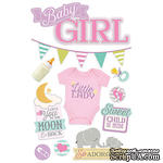 Наклейки от Paper House - 3D Stickers - Baby Girl, 11,4x21,5 см - ScrapUA.com