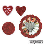 Лезвия от Sizzix - Sizzlits Die Set 3PK - Accordion Fold Flowers Set №2, 3 шт.