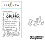 Набор ножей и штампов от Altenew - Halftone Smile Stamp & Die Bundle - ScrapUA.com