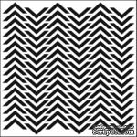 Маска The Crafter's Workshop - Mini Template Chevron, 15х15 см. - ScrapUA.com