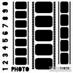 Маска The Crafter's Workshop - Mini Template Filmstrips, 15х15 см - ScrapUA.com