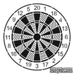 Маска The Crafter's Workshop - Mini Template Dartboard, 15х15 см - ScrapUA.com