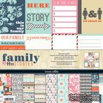 Набор скрапбумаги и декора Teresa Collins Designs - Family Stories - Collection Pack, 30х30 см - ScrapUA.com