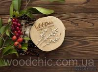 Чипборд Набор цветущие ветки от WOODchic,  5.5 на 2.6см