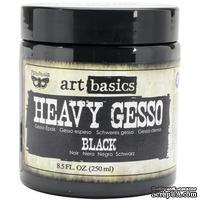 Грунт универсальный от Prima, цвет черный, Finnabair Art Basics Heavy Gesso 8.5oz, 250 мл