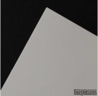 Гладкий мелованный картон белого цвета, 30х30см,  350г/м2, 1 шт.