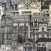 Ткань лен  - Лондон, 45х75 см - ScrapUA.com