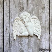 """Гипсовое украшение """"Ангел с птичкой"""" от Е.В.A, 5х5см, 1 шт."""