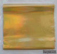 "Фольга голографическая на плёнке - ""Золото"", ширина 9 см, длина 1 м (EB-F-Z-G-10R)"