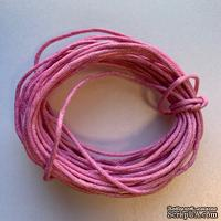 Вощеный шнур, розовый, 1,5 мм, 5 метров - ScrapUA.com