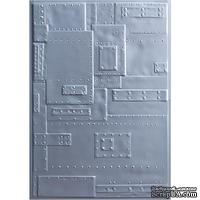 Папка для тиснения Sizzix - Foundry - Sizzix 3D Texture Fades Embossing Folder By Tim Holtz
