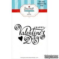 Резиновый штамп от Gourmet Rubber Stamps - Gourmet Rubber Stamps Cling Stamps  - Valentine's Day Script
