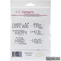 Резиновый штамп от C.C. Designs 0 - Pollycraft Cling Stamp - Valentine Sentiments, размер упаковки: 12,7х19 см