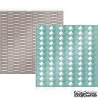 "Набор папок для тиснения We R Memory Keepers - Woven -  Embossing Folders 6""X6"", 15 x 15, 2шт."