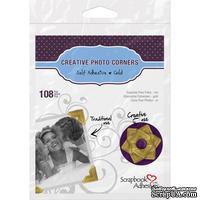Уголки для фото Photo Corners Classic Style Self-Adhesive Photo Corners - Gold золото 12мм, 108 шт.