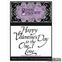 Резиновый штамп от Paper Parachute - Paper Parachute Cling Rubber Stamps  - Happy Valentine's Day, 6,4х7,5см