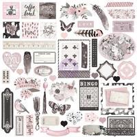 Набор высечек из чипборда  Prima - Rose Quartz Ephemera Cardstock Die-Cuts