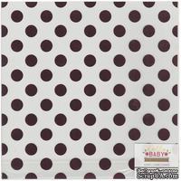 Ацетатный лист с фольгированием в розовый горошек от Pink Foil Dots, 30х30 см
