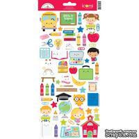 "Наклейки от Doodlebug - Cardstock Stickers 6""X13"" - School Days Icons - ScrapUA.com"
