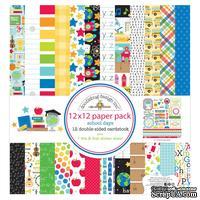 Набор бумаги для скрапбукинга от Doodlebug - School Days, 30х30 см, 12+1 лист - ScrapUA.com
