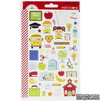 Наклейки от Doodlebug - Mini Cardstock Stickers - School Days Icons, 2 листа, 100 штук - ScrapUA.com