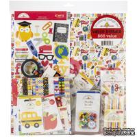 Полная коллекция бумаги и декора от Doodlebug Cardstock - School Days - ScrapUA.com