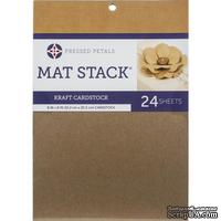 "Набор кардстока DCWV Specialty Card Stack 6""X8"" - Kraft, 15.2х20.3см, 24листа, крафт"