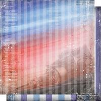 Лист двусторонней бумаги для скрапбукинга Автопарк 003, дизайн Елены Виноградовой, 30х30см, 200г/м
