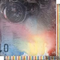 Лист двусторонней бумаги для скрапбукинга Автопарк 004, дизайн Елены Виноградовой, 30х30см, 200г/м