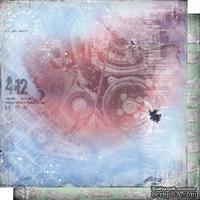 Лист двусторонней бумаги для скрапбукинга Автопарк 006, дизайн Елены Виноградовой, 30х30см, 200г/м